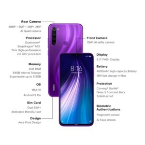 note 8 purple 4-64 front